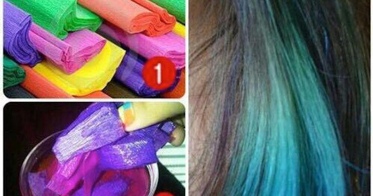 Haare farben krepppapier